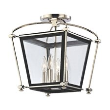 Hollis 4 Light Semi Flush Mount