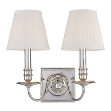 <strong>Hudson Valley Lighting</strong> Sheldrake 2 Light Wall Sconce