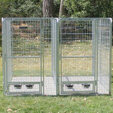 2 Dog Galvanized Steel Yard Kennel