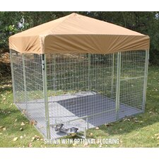 Complete Galvanized Steel Dog Kennel