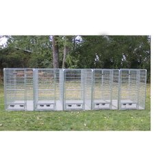 5 Dog Galvanized Steel Yard Kennel