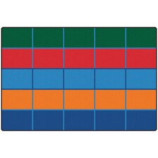 Color Blocks Value Seating Kids Rug