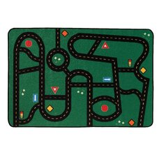 Go Go Driving Kids Rug