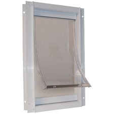 White Deluxe Pet Door