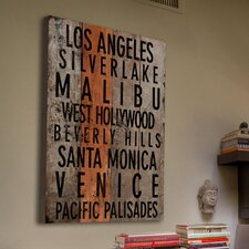 Los Angeles 2 Reclaimed Wood - Douglas Fir Art