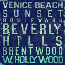 Beverly Hills Textual Art on Canvas