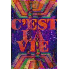 C'est La Vie Textual Art on Canvas