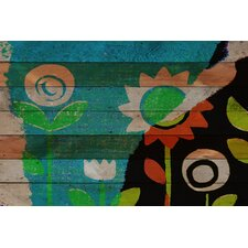 Happy Garden Reclaimed Wood - Douglas Fir Art