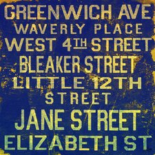 Jane Street Textual Art on Canvas