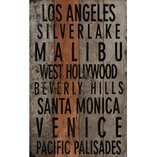 Los Angeles 2 Textual Art Plaque