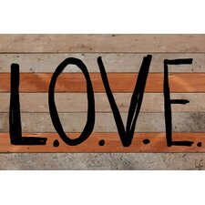 <strong>Jen Lee Art</strong> L-O-V-E Reclaimed Wood - Douglas Fir Art