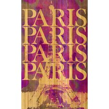 Paris Paris Bamboo Painting Print on Canvas