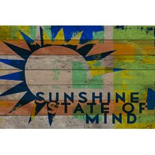 <strong>Jen Lee Art</strong> Sunshine State of Mind Reclaimed Wood - Douglas Fir Art