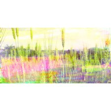 Green Grass Graphic Art on Canvas