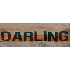 Darling Textual Art Plaque
