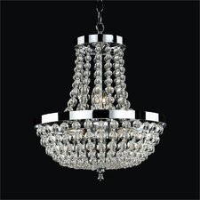 <strong>Glow Lighting</strong> Arcadia 8 Light Crystal Chandelier