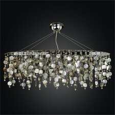 <strong>Glow Lighting</strong> Midnight Pearl 5 Light Chandelier