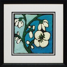 <strong>North American Art</strong> Teal Batik Botanical II Wall Art