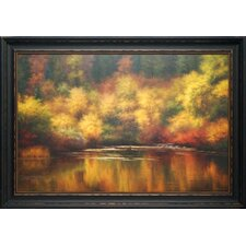 'Nature's Mirror' by Melody Thomas Framed Painting Print