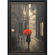 <strong>North American Art</strong> Red Rain Framed Art