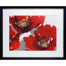 Forest Poppies II by Natasha Barnes Framed Painting Print