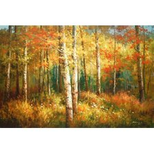 <strong>North American Art</strong> Aspen Woods Canvas Wall Art