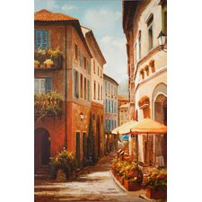 <strong>North American Art</strong> Village Corner Canvas Wall Art