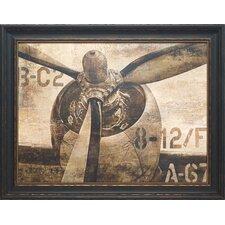 'Vintage Propeller' by Dylan Matthews Framed Graphic Art