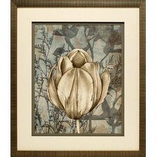 Tulip and Wildflowers I by Jennifer Goldberger Framed Graphic Art
