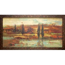 'Hot Day by the River' by Silvia Vassileva Framed Painting Print