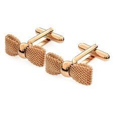 Gold Plated Bow Tie Cufflinks