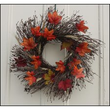 Fall Foliage Twig Wreath