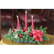 Enchanted Gingerbread Man 3 Candle Centerpiece