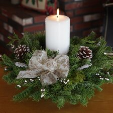 Winter Elegance Pillar Candle Centerpiece