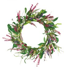 "18"" Delightful Delphinium Wreath"