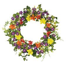 "18"" Cosmos Summer Treat Wreath"