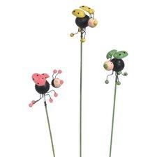 """3"""" Fanciful Ladybug Pick (Set of 12)"""