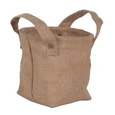 Decorative Burlap Storage Bag