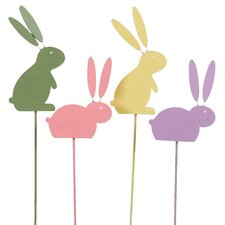 Whimsical Wood Bunny Pick (Set of 12)