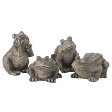 <strong>Oddity Inc.</strong> 4 Piece Look Frog Figurine Set