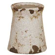 Crackle Canister Vase