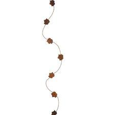 Rusty Metal Fall Leaf Garland (Set of 6)
