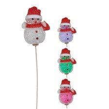 "2.5"" LED Snowman Picks (Set of 4)"
