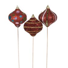3 Piece Ornament Pick Assortment Statue Set