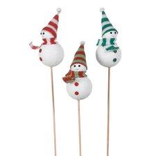"4"" Snowman Picks (Set of 3)"
