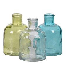 Pressed Decorative Bottle (Set of 3)