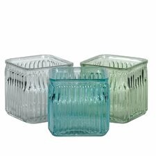 3 Piece Press Cube Vase Set