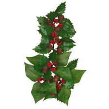 Holly Poinsettia Leaves Candle Climber