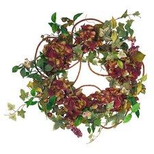 "22"" Hydrangea Ivy Wreath"