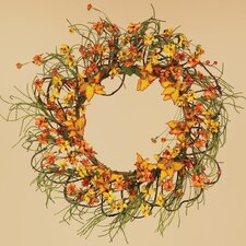 Fall Tiger Lily Tendril Ropes Wreath